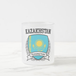 Kazakhstan Frosted Glass Coffee Mug