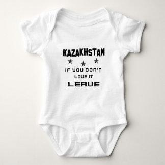 Kazakhstan If you don't love it, Leave Baby Bodysuit