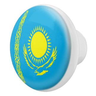 Kazakhstan Kazakhstani Flag Ceramic Knob