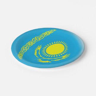 Kazakhstan Kazakhstani Flag Paper Plate