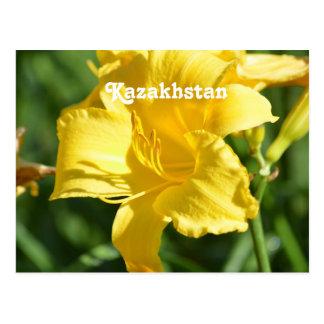 Kazakhstan Lily Postcard