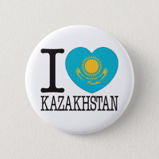 Kazakhstan Love v2 2 Inch Round Button