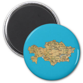 Kazakhstan Map Magnet