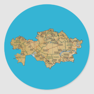 Kazakhstan Map Sticker
