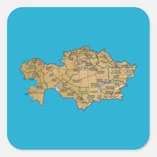 Kazakhstan Map Sticker