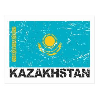 Kazakhstan Vintage Flag Postcard