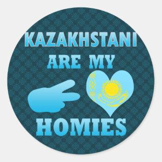 Kazakhstanis are my Homies Classic Round Sticker