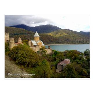 Kazbegi, Georgia Postcard
