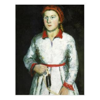 Kazimir Malevich- Portrait of Artist s Daughter Postcard