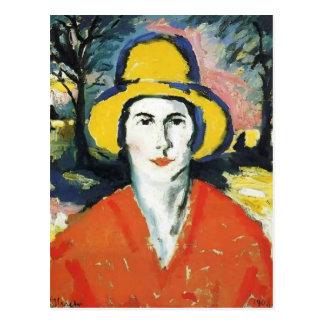 Kazimir Malevich- Portrait of Woman in Yellow Hat Postcard