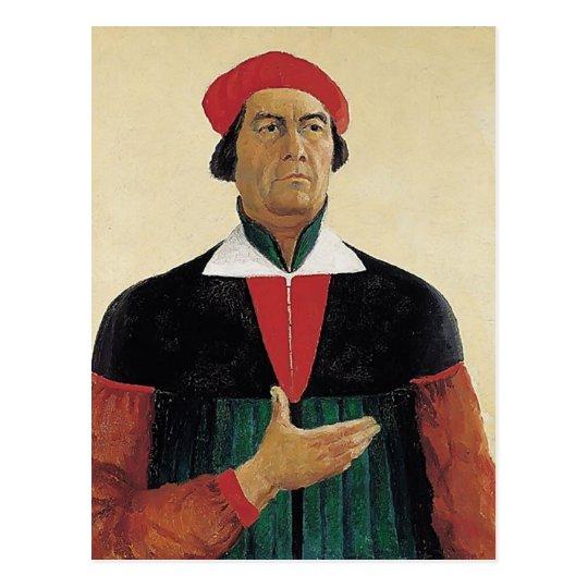 Kazimir Malevich- Self-Portrait Postcard