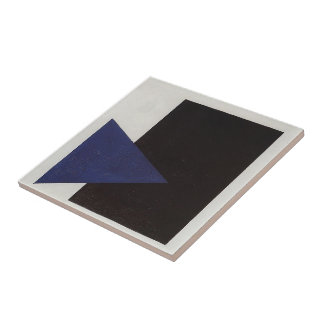 Kazimir Malevich- Suprematism with Blue Triangle Tile