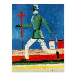 Kazimir Malevich- The Running Man Postcard