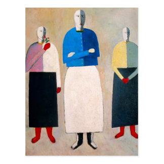 Kazimir Malevich- Three Girls Postcard