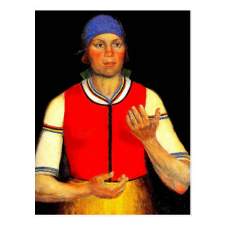 Kazimir Malevich- Worker Postcard