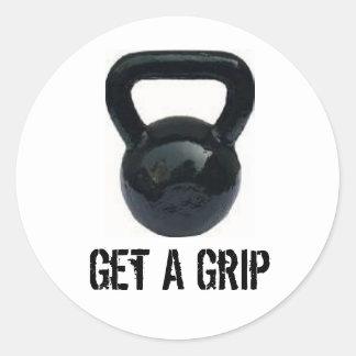kbelll, Get A Grip Classic Round Sticker