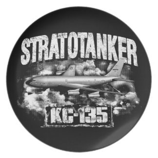 KC-135 Stratotanker Melamine Plate Melamine Plate