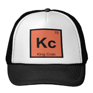 Kc - King Crab Chemistry Periodic Table Symbol Trucker Hat