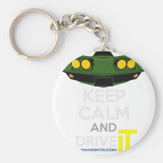 KCIT-1970VetteStingRay Basic Round Button Keychain