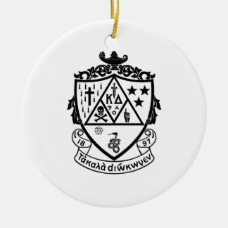 KD Crest Round Ceramic Ornament