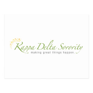 KD Sorority Logo Postcard
