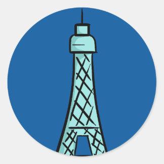 KDFans Eiffel Tower Logo Stickers