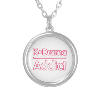 KDrama Addict Silver Plated Necklace
