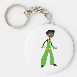 KDT Boy Super Hero Basic Round Button Keychain