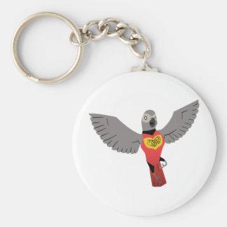 KDT Grey Super Hero Basic Round Button Keychain