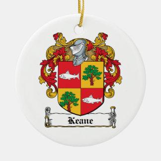 Keane Family Crest Ceramic Ornament