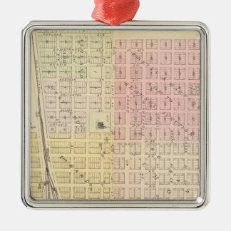Kearney City, Nebraska Silver-Colored Square Ornament