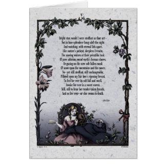 """Keats """"Bright Star"""" Victorian Art Card"""