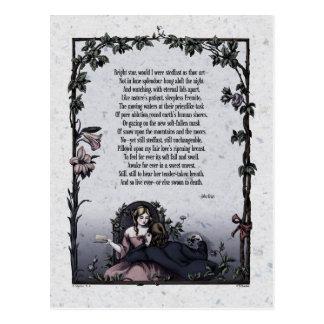 """Keats """"Bright Star"""" Victorian Postcard"""