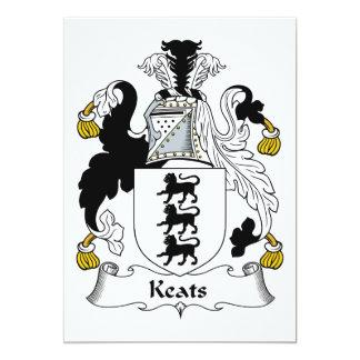 Keats Family Crest Card