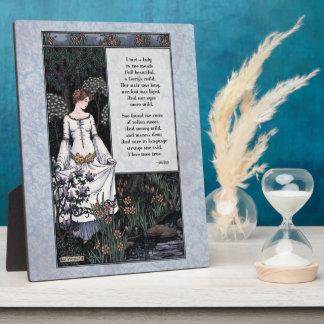 """Keats """"La Belle Dame"""" Victorian 8x10 Art Plaque"""
