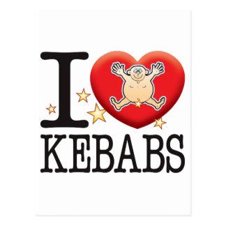 Kebabs Love Man Postcard