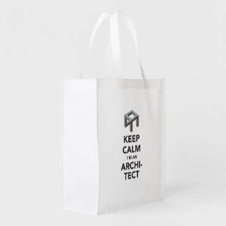 Keec calm I'm an architect Reusable Grocery Bag