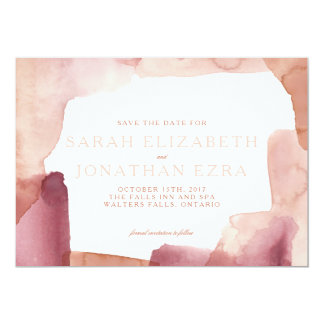Keefe Watercolour Save the Date // Blush Card