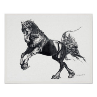 Keegan Jewel Friesian Stallion Poster