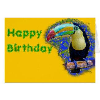 Keel Billed  / Toucan popart Card