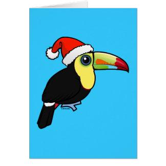 Keel-billed Toucan Santa Card
