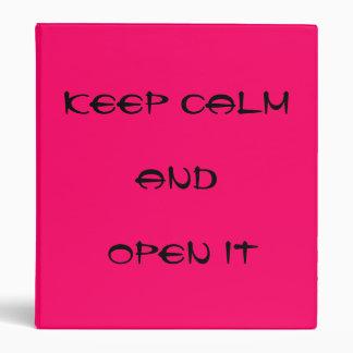 KEEL CALM - READ IT 3 RING BINDER
