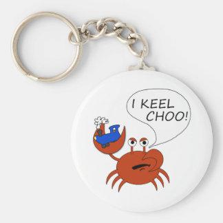 Keel Choo Basic Round Button Keychain