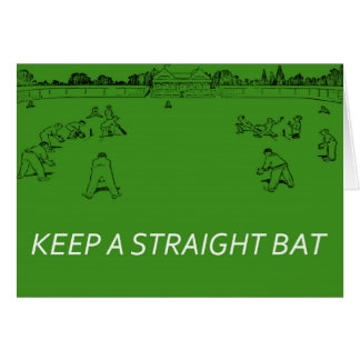 Keep a Straight Bat2 Card