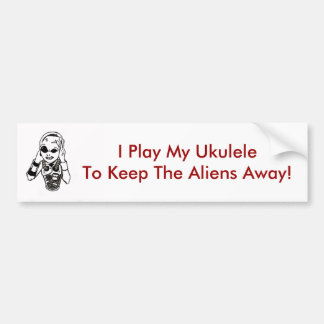 Keep Aliens Away Bumper Sticker