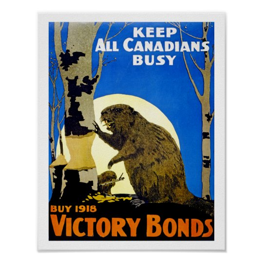 Keep All Canadians Busy Poster Zazzle Ca