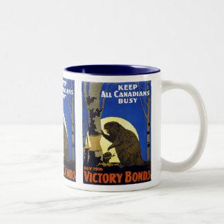 Keep All Canadians Busy Two-Tone Coffee Mug