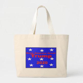 Keep America Great...Trump 2020 Political Slogan Large Tote Bag