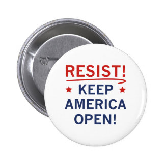 Keep America Open 2 Inch Round Button