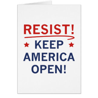 Keep America Open Card